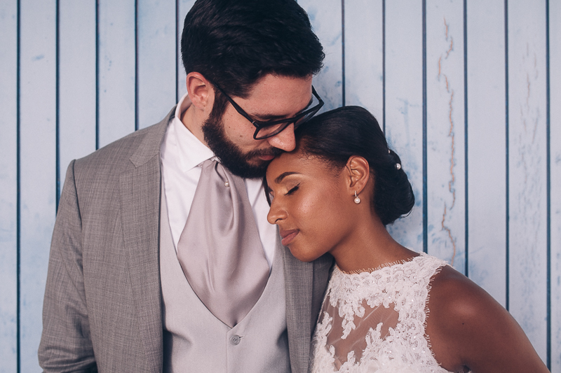 Caribbean mixed wedding at the seaside in Martinique