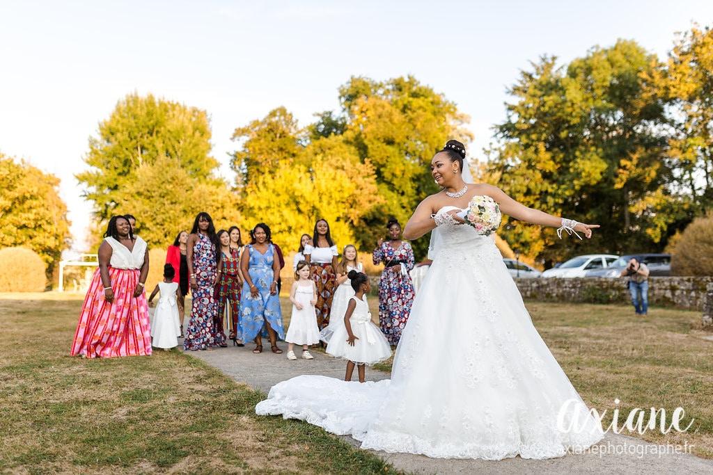 lancer de bouquet de mariée organsa wedding planner manoir de mon père