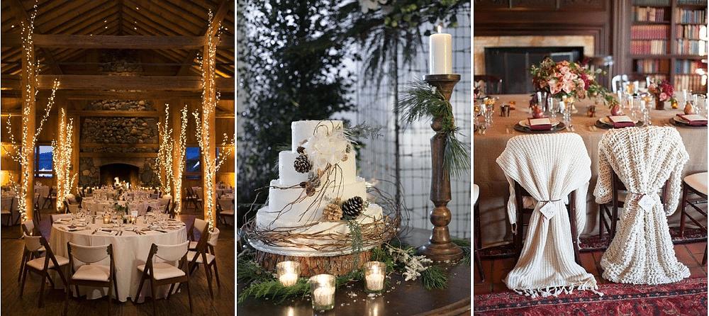 décor de mariage thème hiver