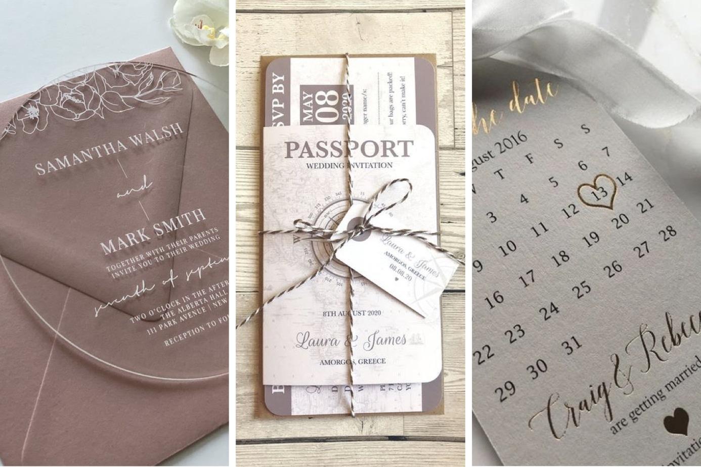 """Idées originales de faire-parts et """"save the date"""" de mariage"""